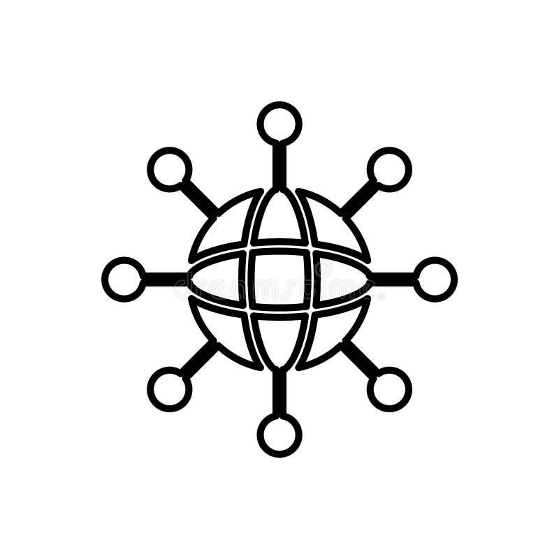 Baza danych, serwer, sieci ikona - wektor Baza danych wektoru ikona royalty ilustracja