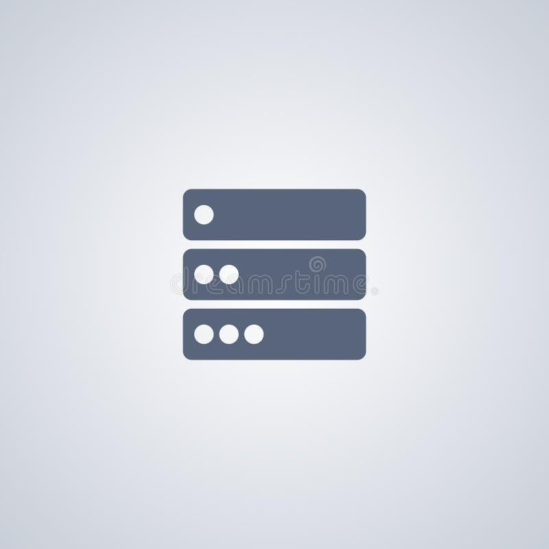Baza danych, serwer, wektorowa najlepszy płaska ikona royalty ilustracja
