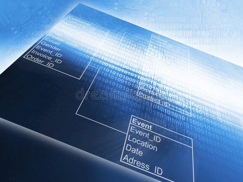 Baza danych stół zdjęcie stock