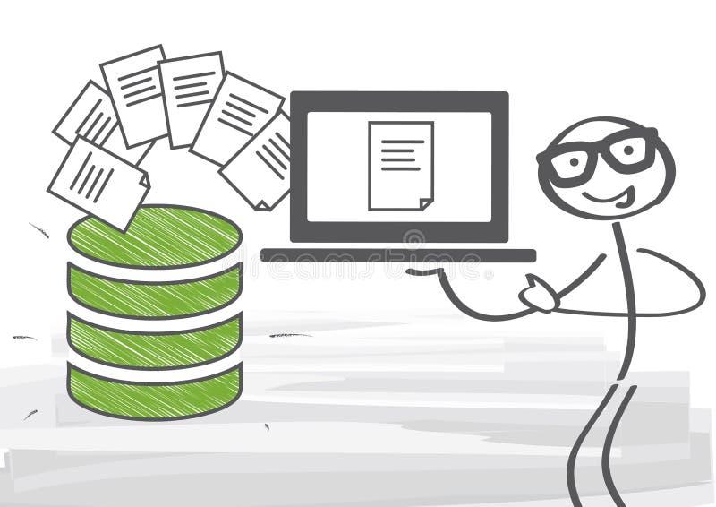 Baza danych - zarządzanie danymi royalty ilustracja