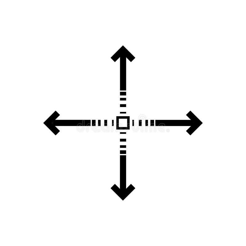 Baza wypadowa znak Cztery strzały boczny znak royalty ilustracja