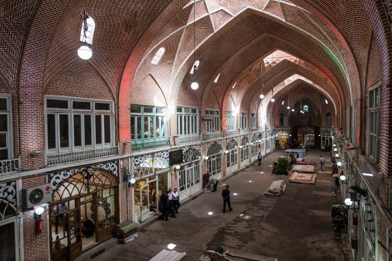 Bazaar de Tabriz, Iran stock photography