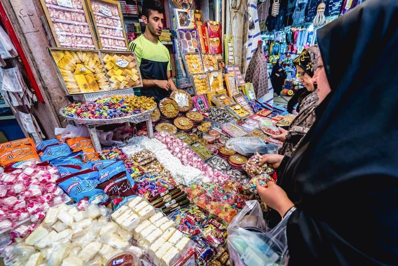 Bazaar in Shiraz stock photos