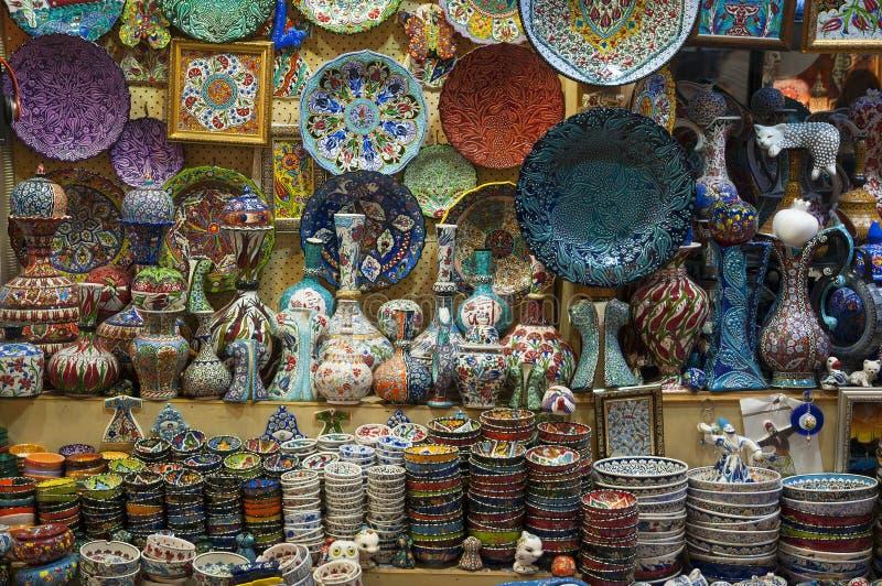 Bazar d'Istanbul, Turquie image libre de droits