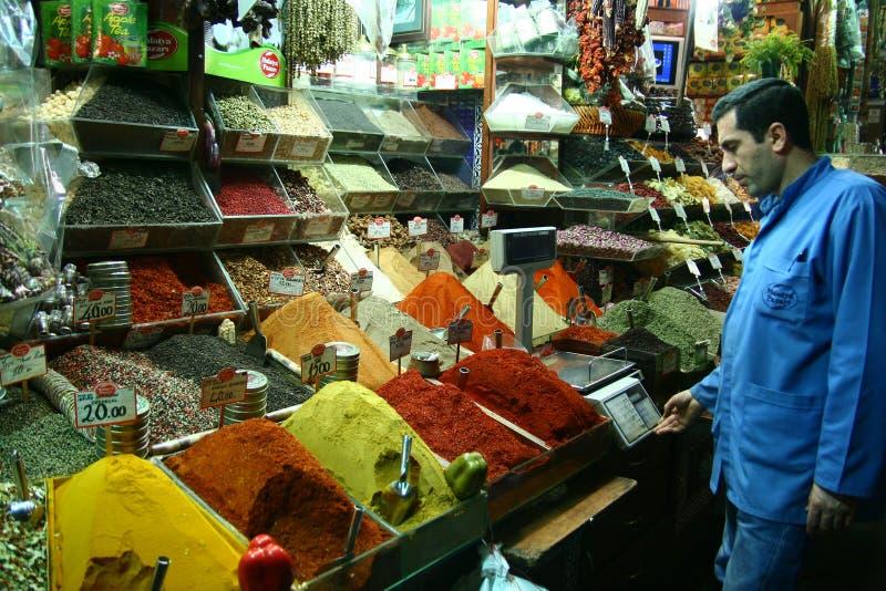 Bazar da especiaria em Istambul, Turquia fotos de stock royalty free