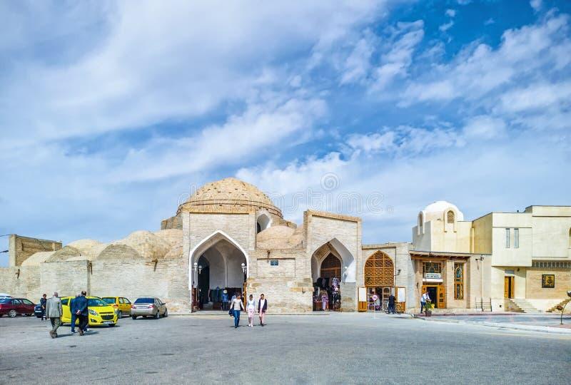 Bazar de dôme, marché de Taqi-Zargaron, site de patrimoine mondial de l'UNESCO, Boukhara, l'Ouzbékistan, l'Asie centrale photo libre de droits