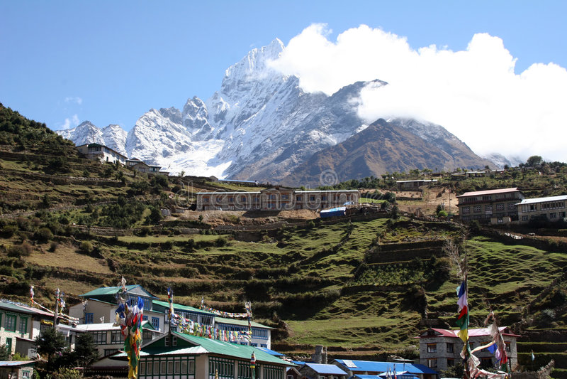 Bazar de Namche - Nepal fotos de archivo libres de regalías