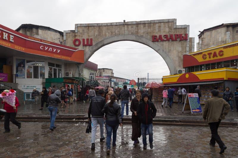 Bazar de Osh em Bishkek, Quirguizistão imagens de stock