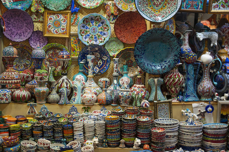 Bazar di Costantinopoli, Turchia immagine stock libera da diritti