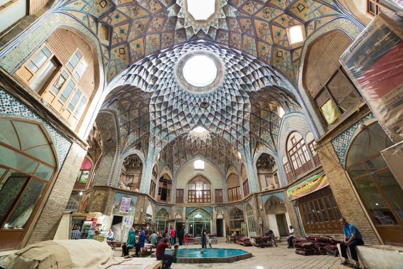 Bazar di Kashan, nell'Iran fotografie stock