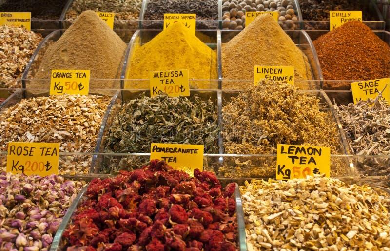 Bazar egípcio da especiaria em Istambul, Turquia fotos de stock