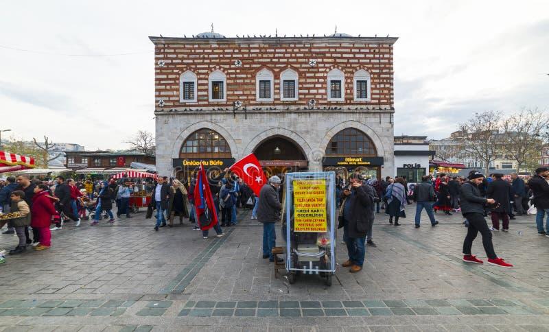 Bazar egípcio ou bazar da especiaria em Eminonu, Istambul, Turquia imagem de stock