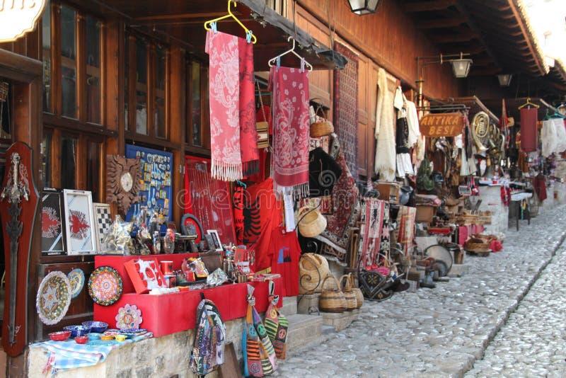 Bazar em Kruja imagem de stock royalty free