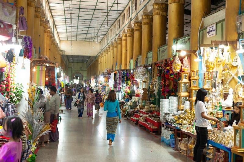 Bazar em Mahamuni Paya imagem de stock royalty free