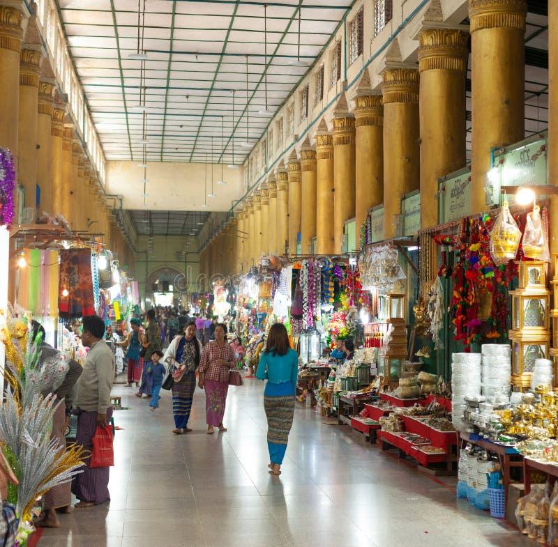 Bazar em Mahamuni Paya fotos de stock royalty free