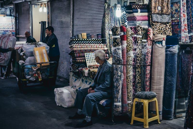 Bazar grand à Téhéran image libre de droits