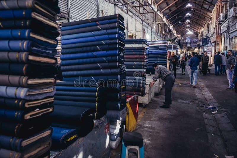 Bazar grand à Téhéran images stock