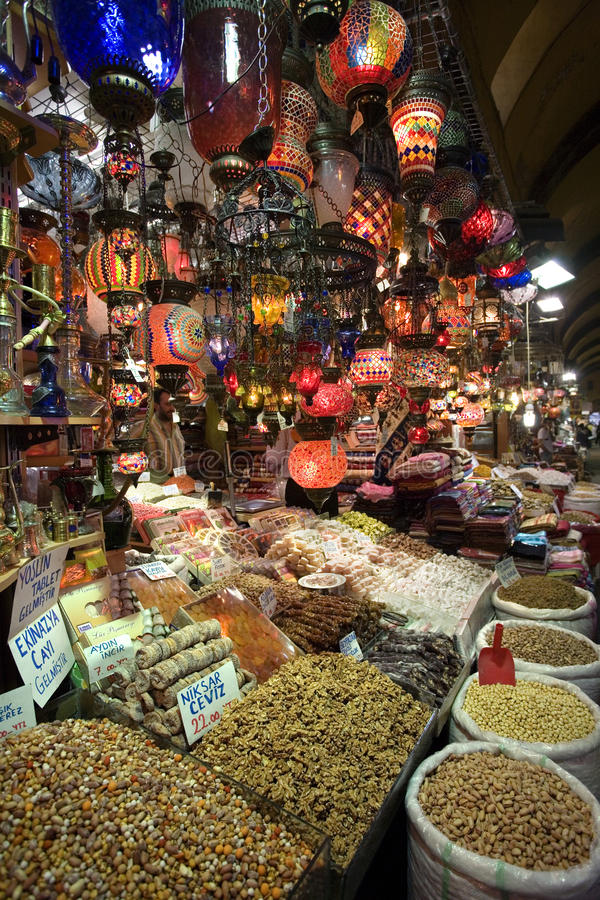 Bazar grande - Istambul - Turquia fotografia de stock royalty free