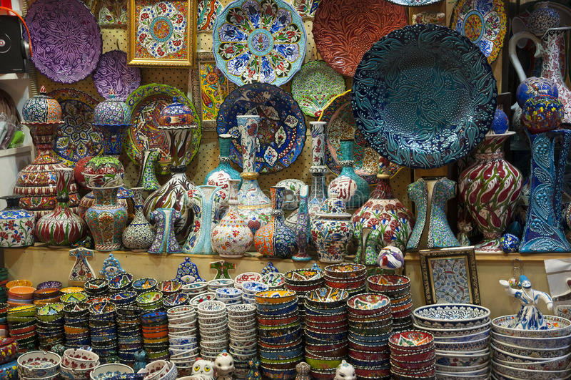 Bazar Istanboel, Turkije royalty-vrije stock foto's