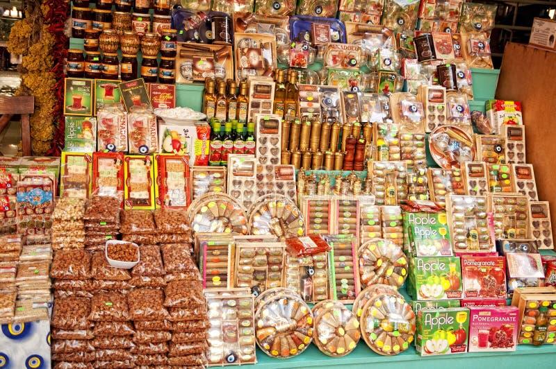Bazar turco de la especia fotos de archivo