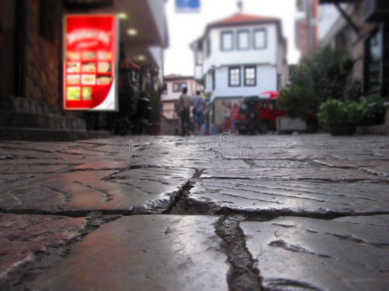 Bazar velho Ohrid-Macedônia fotografia de stock
