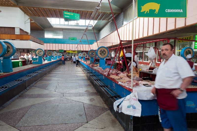 Bazar verde em Almaty fotografia de stock