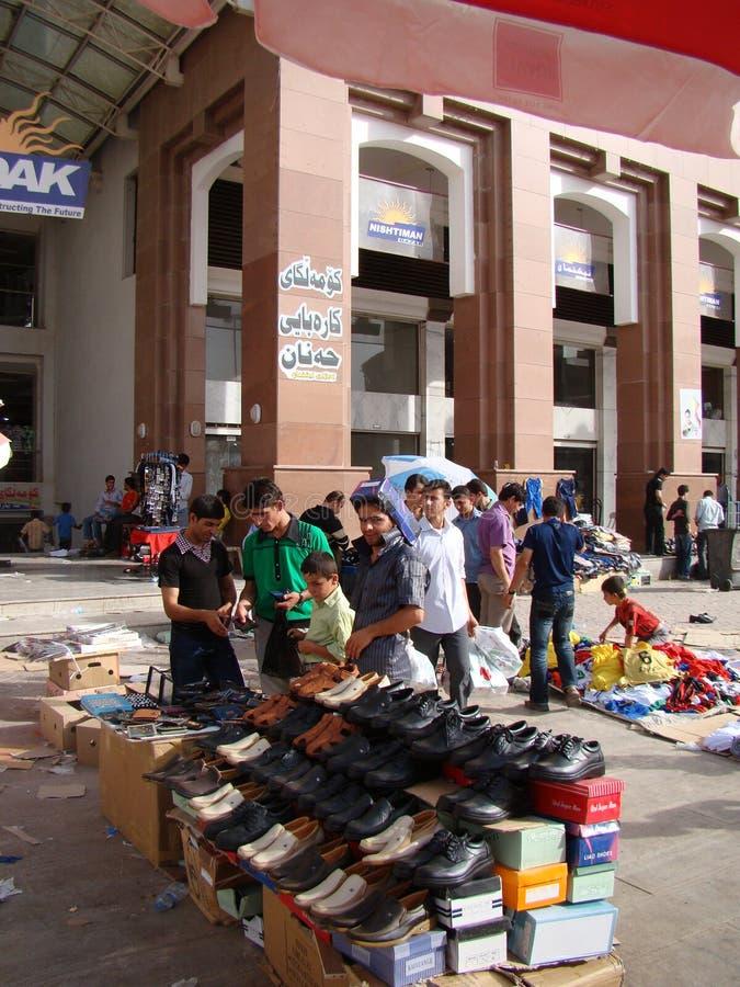 Bazarliv i Erbil Irak arkivbilder