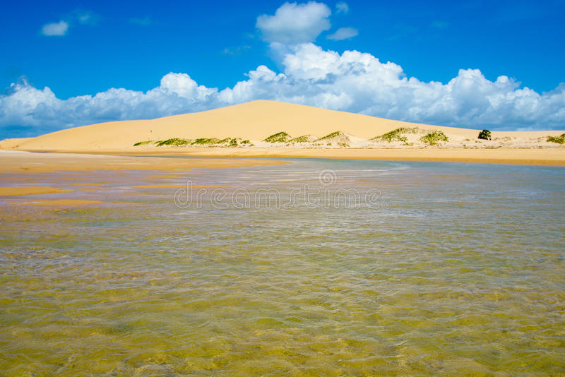Bazaruto National park with sand dunes and low waters. Bazaruto National Park with sand dunes and blue sky stock photography