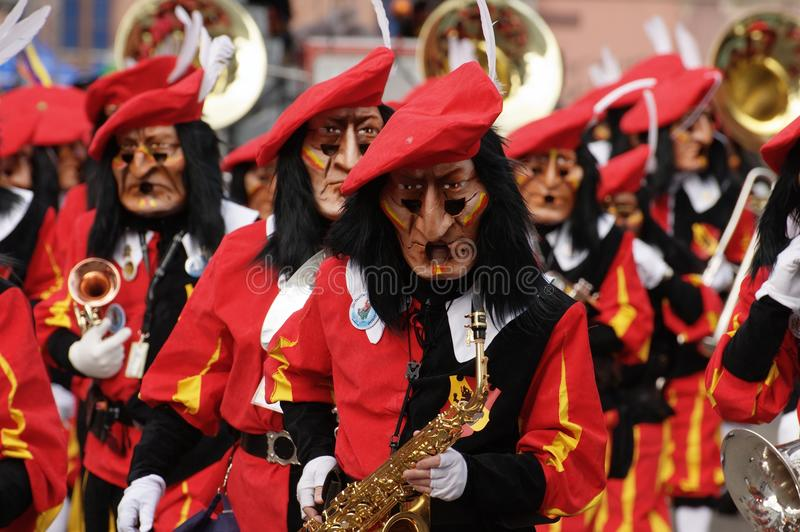 Bazel Carnaval (fasnacht) in Zwitserland royalty-vrije stock afbeeldingen