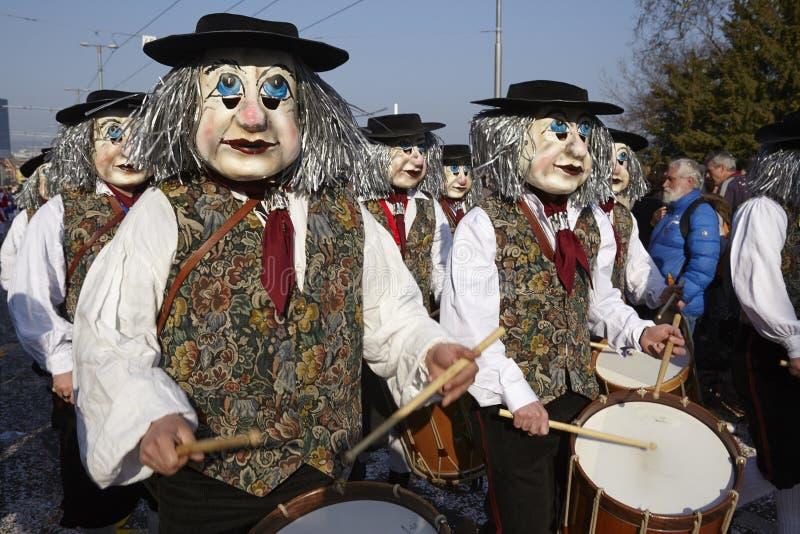 Bazel (Zwitserland) - Carnaval 2014 royalty-vrije stock foto's