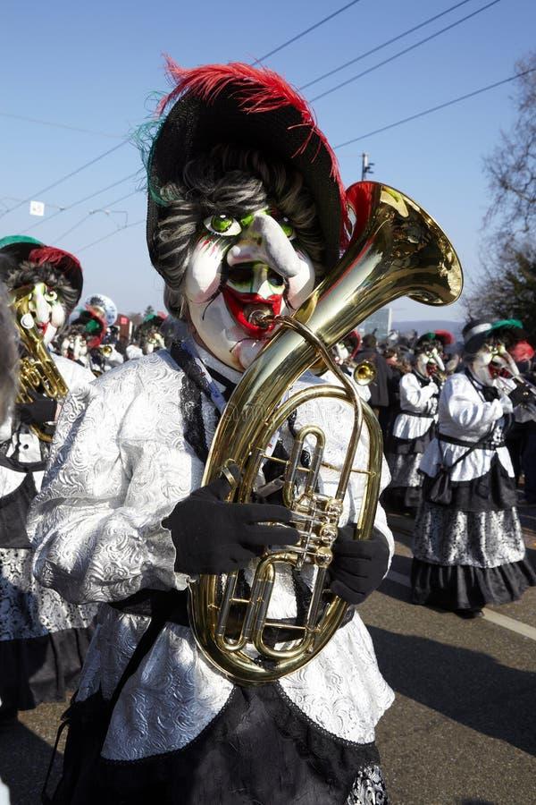 Bazel (Zwitserland) - Carnaval 2013 stock foto's