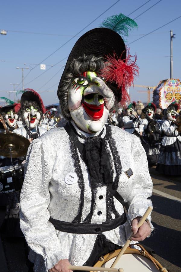 Bazel (Zwitserland) - Carnaval 2013 royalty-vrije stock foto's