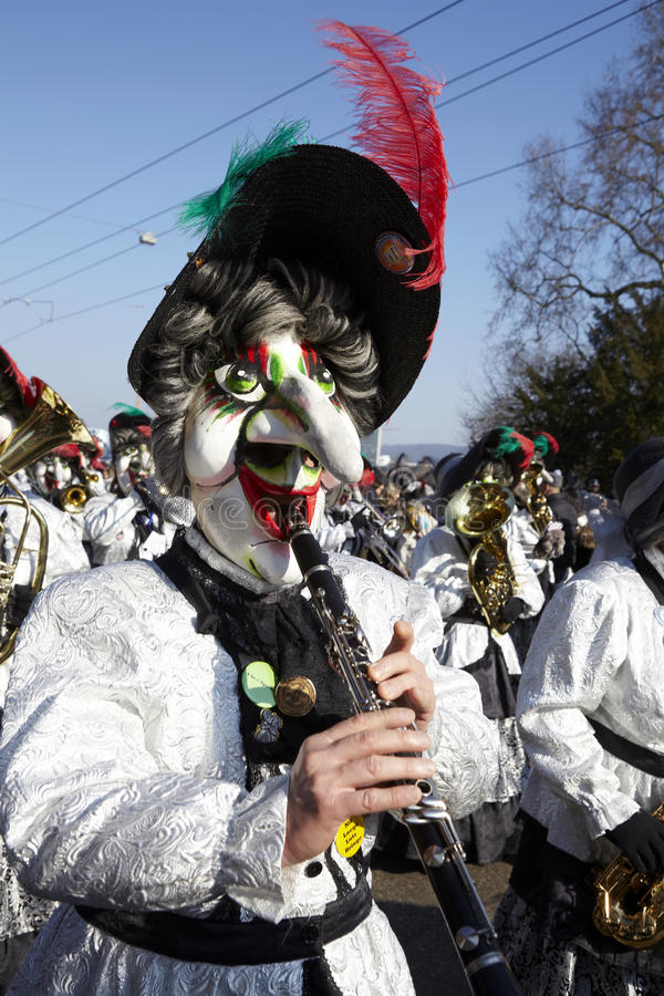 Bazel (Zwitserland) - Carnaval 2013 stock fotografie