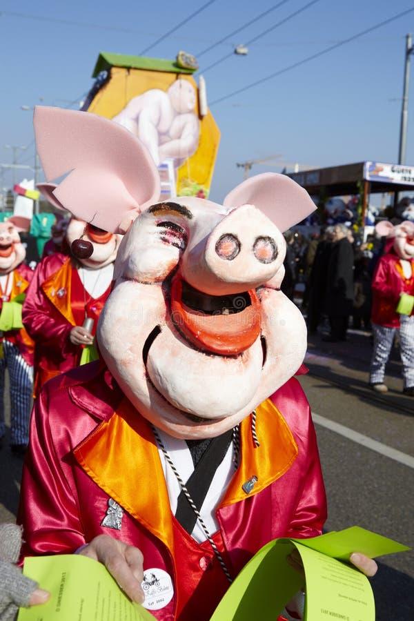 Bazel (Zwitserland) - Carnaval 2013 stock foto