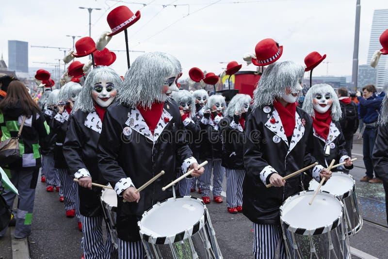 Bazel (Zwitserland) - Carnaval 2016 stock afbeeldingen