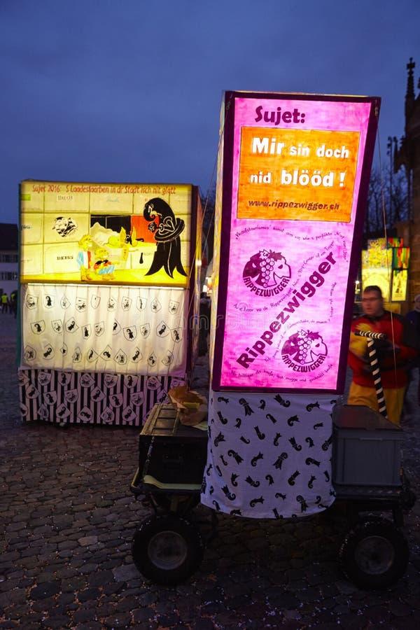 Bazel (Zwitserland) - Carnaval 2016 royalty-vrije stock afbeeldingen