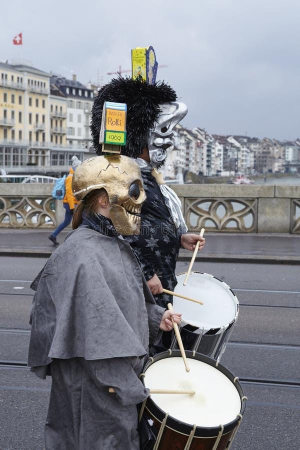 Bazel (Zwitserland) - Carnaval 2016 royalty-vrije stock foto's