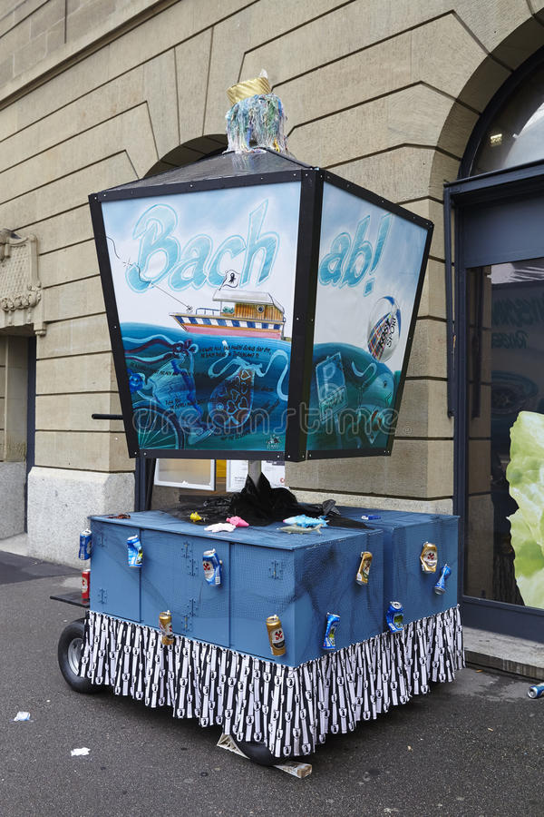 Bazel (Zwitserland) - Carnaval 2016 royalty-vrije stock afbeelding