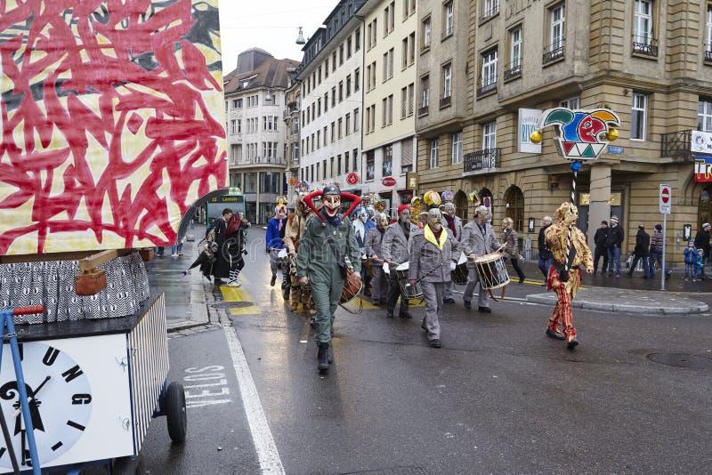 Bazel (Zwitserland) - Carnaval 2016 stock foto's