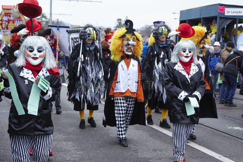 Bazel (Zwitserland) - Carnaval 2016 stock foto