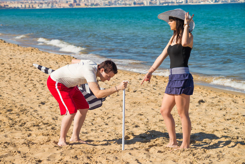 Bazig meisje in vakantie royalty-vrije stock afbeeldingen
