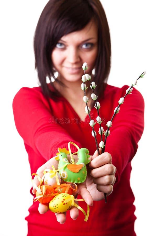 bazii dekoraci Easter jajka zdjęcie royalty free