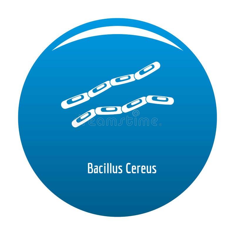 Bazillus Säulenkaktusikonenblau vektor abbildung