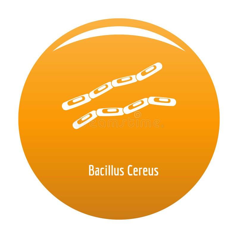 Bazillus Säulenkaktusikonenorange stock abbildung