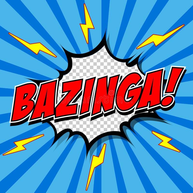 Bazinga бесплатная иллюстрация