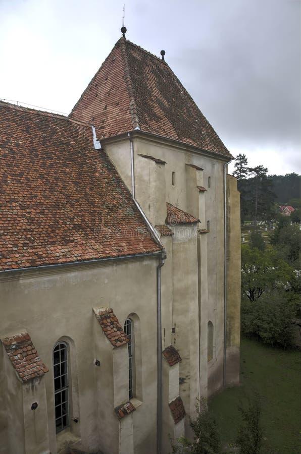 Bazna fortificou a igreja imagens de stock
