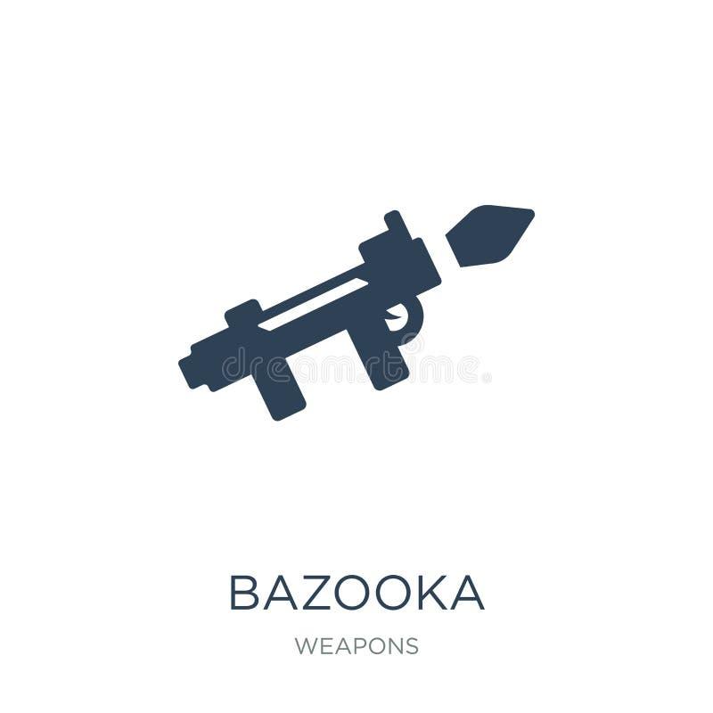 bazookasymbol i moderiktig designstil bazookasymbol som isoleras på vit bakgrund enkelt och modernt plant symbol för bazookavekto stock illustrationer