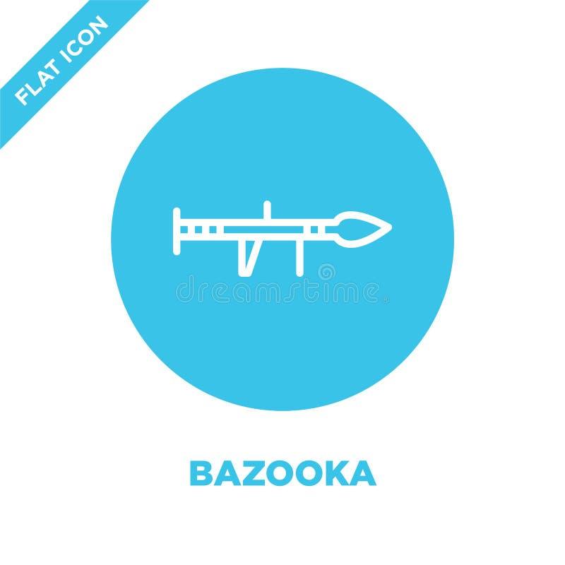 bazookasymbolsvektor från militär samling Tunn linje illustration för vektor för bazookaöversiktssymbol Linjärt symbol för bruk p vektor illustrationer