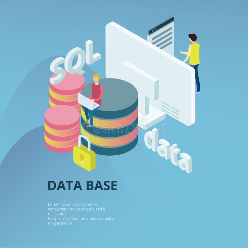 Bazy danych pojęcie ilustracja wektor