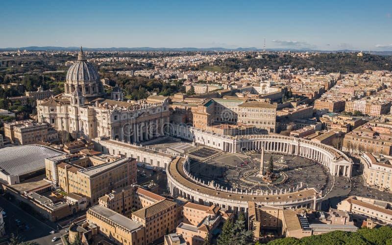 Bazylika św. Piotra i Plac św. Piotra zdjęcie stock